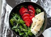 Insalata rucola fragole Strawberries rocket salad