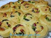 Torta rose salata asparagi prosciutto cotto