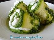 Rotolini zucchine crema ricotta pesto