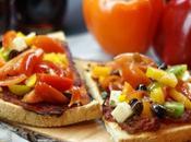Bruschetta vegetariana all'agrodolce