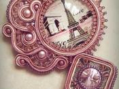 "Ciondolo soutache ""Paris Love"""