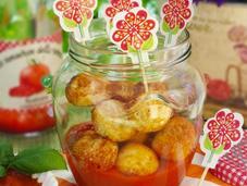 Polpette ricotta salsa ketchup homemade