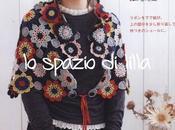 Scialle borsa all'uncinetto, schemi Crochet shawlette bag, free charts