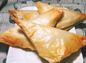 Triangoli pasta phillo salsiccia porri