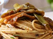Spaghetti Friggitelli Alici Pane Tostato