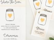 """WEDDING INVITATIONS: Share love! cuore """"stappare"""" coordinato grafico Anna Mirko"""