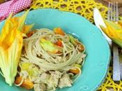 Spaghetti integrali pomodorini gialli tonno