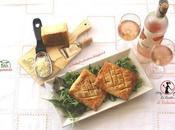 Quadri sfoglia ripieni zucca Mantovana, salvia Asiago letto misticanza vinaigrette all'arancia, vino d'accompagnamento Dilé Rosato
