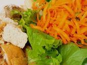 Insalata carote crostini pane: semplice gustosa