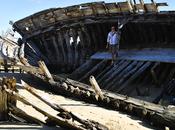 Bretagna: cimitero delle barche Magouer