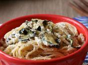 Spaghetti Zucchine Grigliate Crema Ricotta Pecora