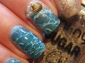 Beach Mani with Sugar Sheer Polishes Bundle Monster Stamping Plate