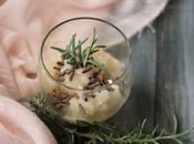 Sorbetto alla pera, rosmarino, zenzero cannella (senza gelatiera)