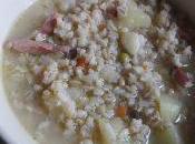 Zuppa orzo perlato speck
