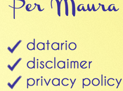 Maura: datario, disclaimer, privacy cookie policy