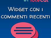 Widget commenti recenti