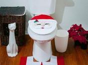 decorazioni Babbo Natale bagno