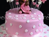 Torta decorata orsetta tridimensionale pasta zucchero nascita bimba
