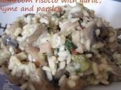 Recipe Mushroom risotto with garlic, thyme parsley
