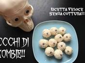 Dolci Halloween: occhi zombie cocco ricotta