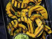 Zucca grigliata pesto cavolfiori spinaci