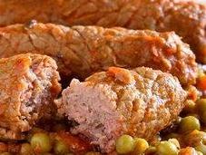Involtini carne piselli