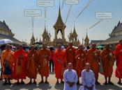 Visita alla Pira Reale Crematorio usato funerali Maestà Bhumibol Adulyadej, Rama