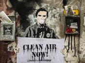 Titti, Fellini, Loren, Pasolini, Papa Francesco: street Roma contro l'inquinamento diesel