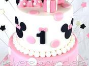 Torta decorata piani compleanno bimba baby Minnie pasta zucchero