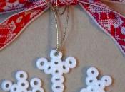 Chiudipacco Natale originali perline stirare lavorate embosser