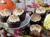 Cupcakes Farina Castagne Frosting alla Zucca