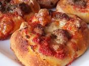 Pizzette salsiccia mozzarella lunga lievitazione