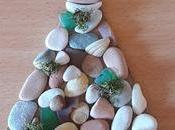 Lavoretti Natale: Albero Natale pietre