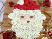 Tutorial dolcidee.it: ricetta torta cupcake Babbo Natale Sweet Santa Claus Pull-Apart Cupcake Cake