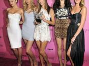 Alessandra Ambrosio, Adriana Lima Candice Swanepoel Dolce Gabbana all'evento Victoria Secret Bombshells