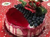 Christmas cake yogurt bianco frutti bosco
