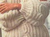 Lavori uncinetto: maglione bianco