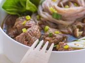 Noodles alla cantonese manzo brasato verdure stagione
