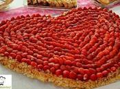 torta cuore fragola