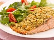 Salmone croccante delizioso