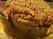 Carciofi ripieni tofu fermentato granella gritz saraceno