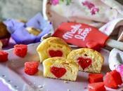Muffin cuore rosso all'interno Valentino