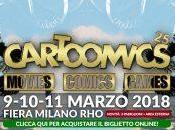 Cartoomics 2018: marzo spazio cinema, videogiochi fumetti