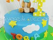 Torta decorata compleanno bimbo orsetto pasta zucchero
