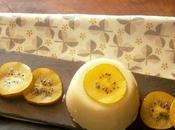 Bavarese kiwi giallo.