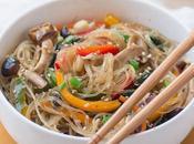 Japchae: ricetta noodles coreani salto
