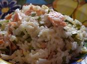 Insalata riso salmone zucchine