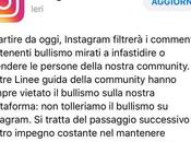 Instagram: disponibile oggi filtro anti bullismo