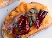 #VEGGYME Bruschette hummus carote cipolle forno, acciughe, semi zucca peperone crusco