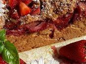 Plum-cake integrale fragole cocco